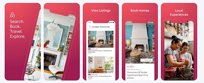 Airbnb App Screenshots