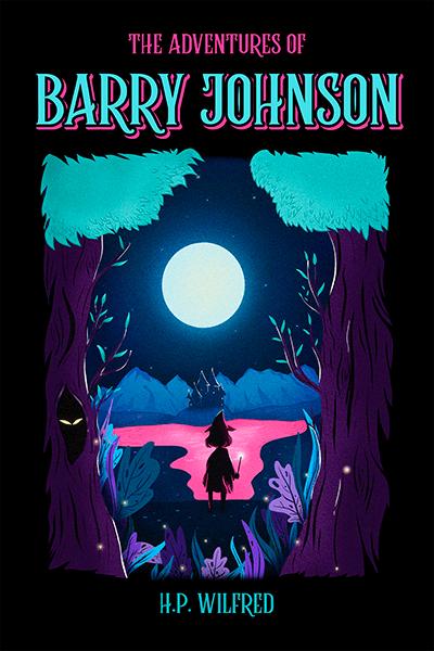 Children S Book Cover Design Template With A Fantasy Landscape