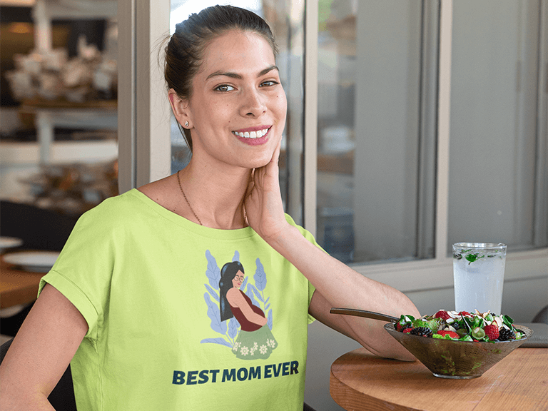 Crop Top Mockup Of A Woman At A Restaurant Eating A Fresh Salad 32766 Copy