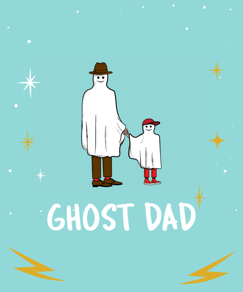 Cute Father S Day Tee Design Template With Ghost Clipart 12f