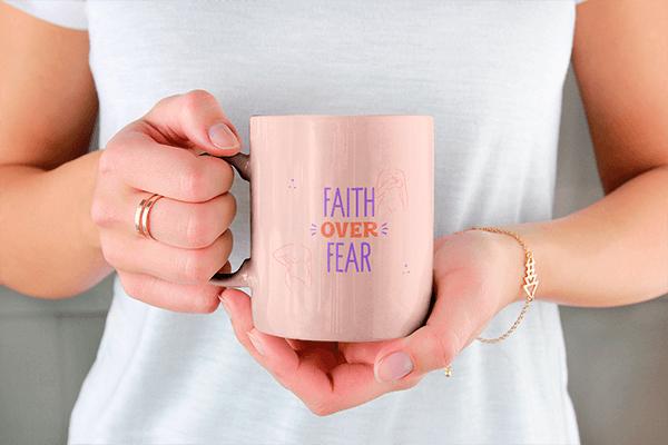 Drinkware Mockup Of A Woman Holding An 11 Oz Coffee Mug