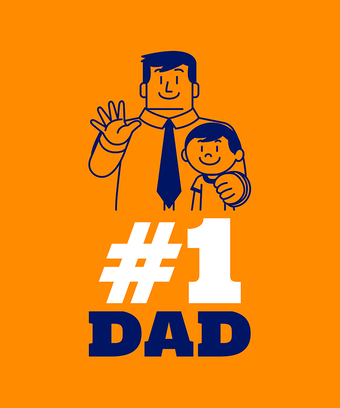 Father S Day T Shirt Maker With A Family Illustration