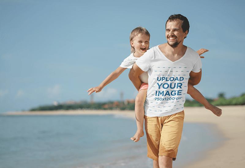 Fathers Day T Shirt Mockup