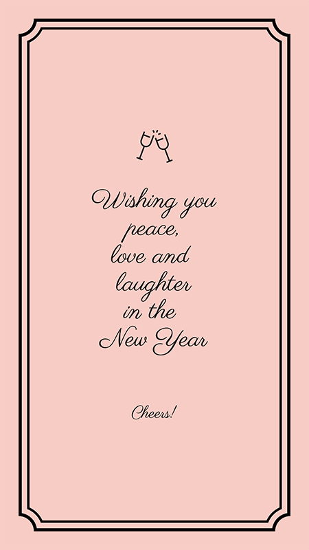 Instagram Story Template With A New Year Quote
