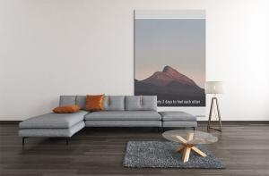 Mockup Of A Big Art Print Decorating A Slick Living Room 2534 El1 Copy