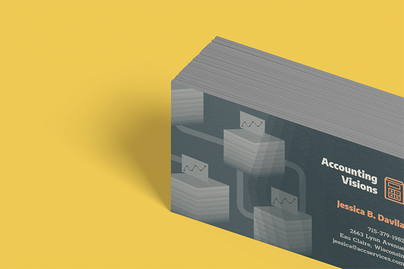 Mockup Of A Bunch Of Business Cards On A Flat Surface