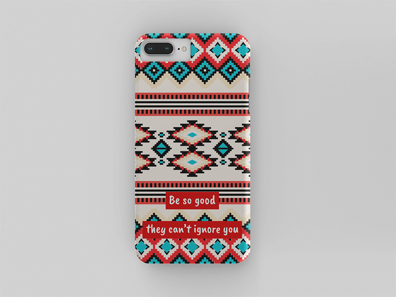 Mockup Of A Phone Case Over A Solid Surface