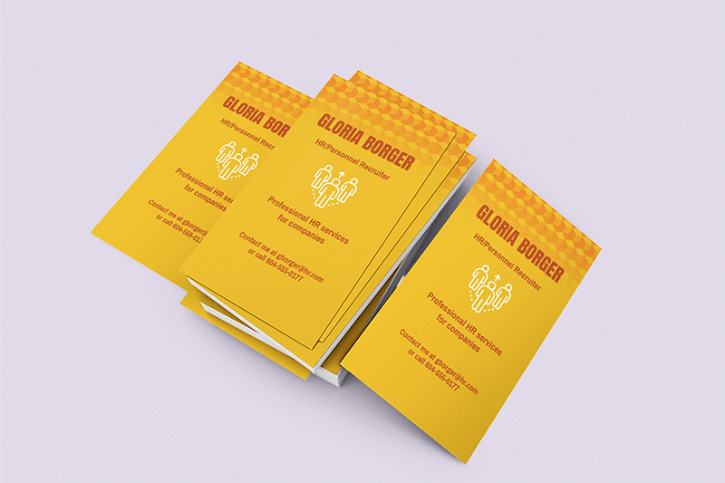 Mockup Of A Pile Of Vertical Business Cards