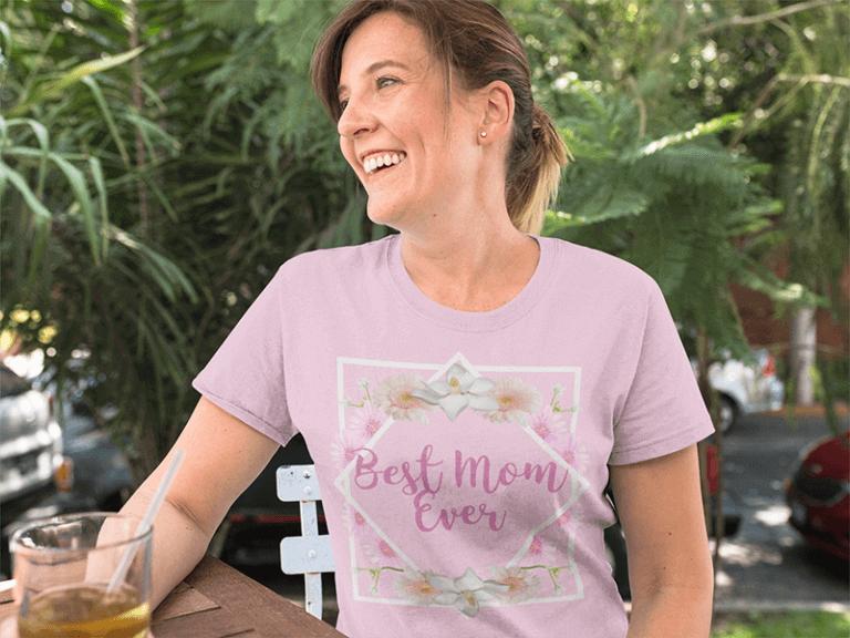 Mom Having A Tea While Wearing A T Shirt A15769 768x576