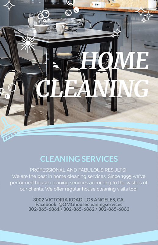 Professional Home Cleaning Services Flyer Maker