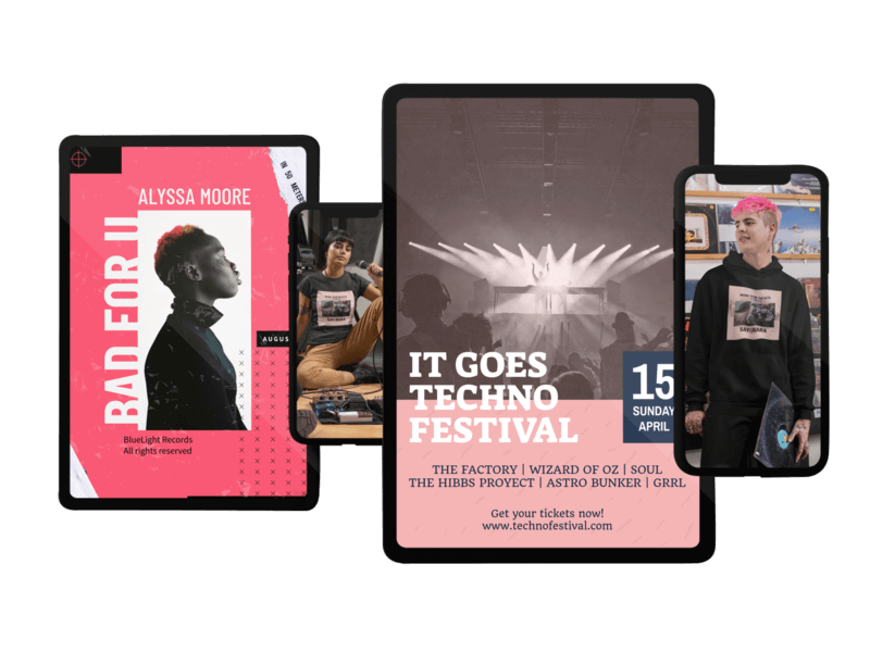 Responsive Mockup Of A Pair Of Iphone 11 Pro And A Pair Of Ipad Pro Devices