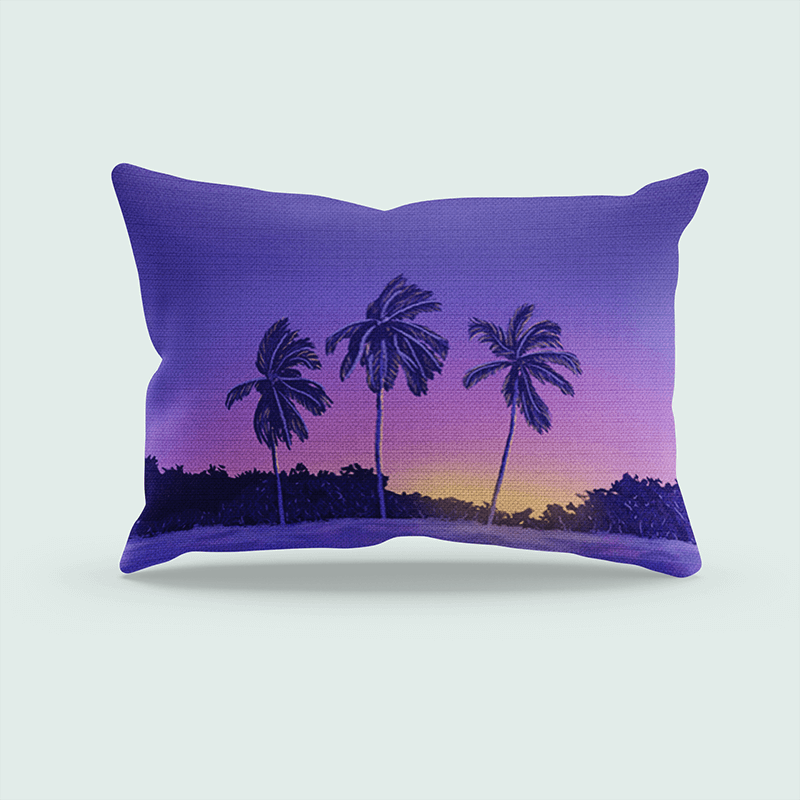 Simple Mockup Of A Rectangular Pillow In A Customizable Setting