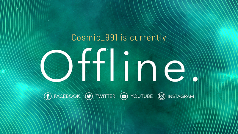 Simple Twitch Offline Banner Template 981 (1)