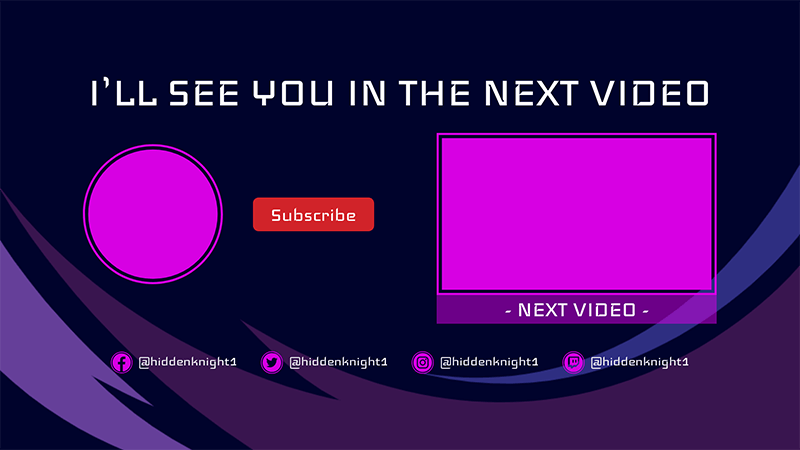 Simple Youtube End Screen Template With A Next Video Panel