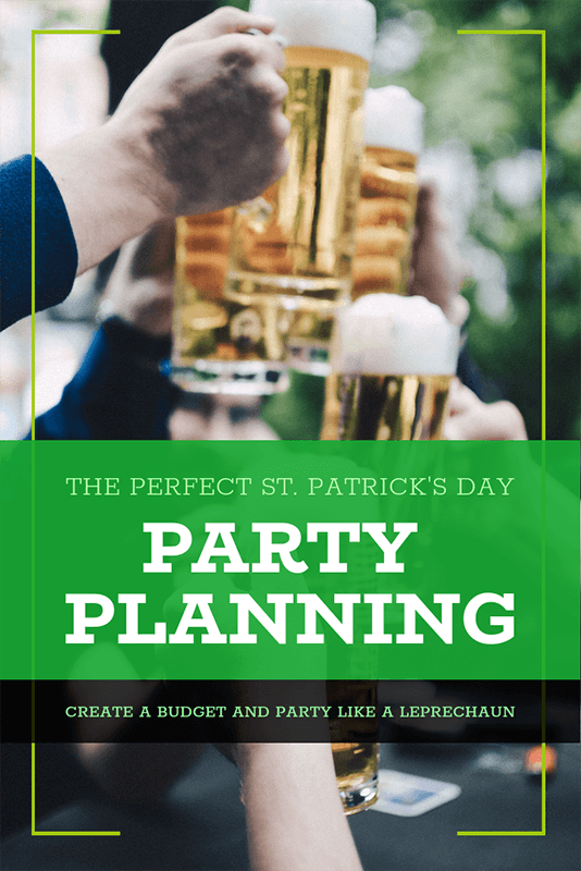 St Patrick S Day Pinterest Pin Template For A Party Planning