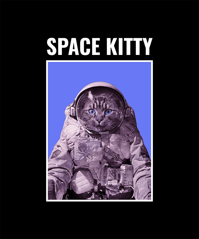 T Shirt Design Creator Featuring An Astronaut Cat