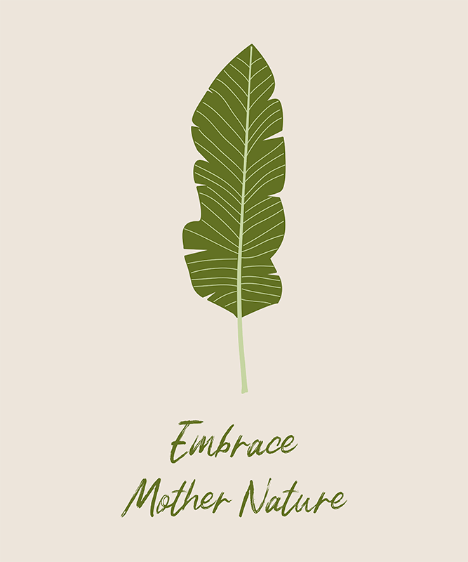T Shirt Design Creator With A Single Plant Leaf