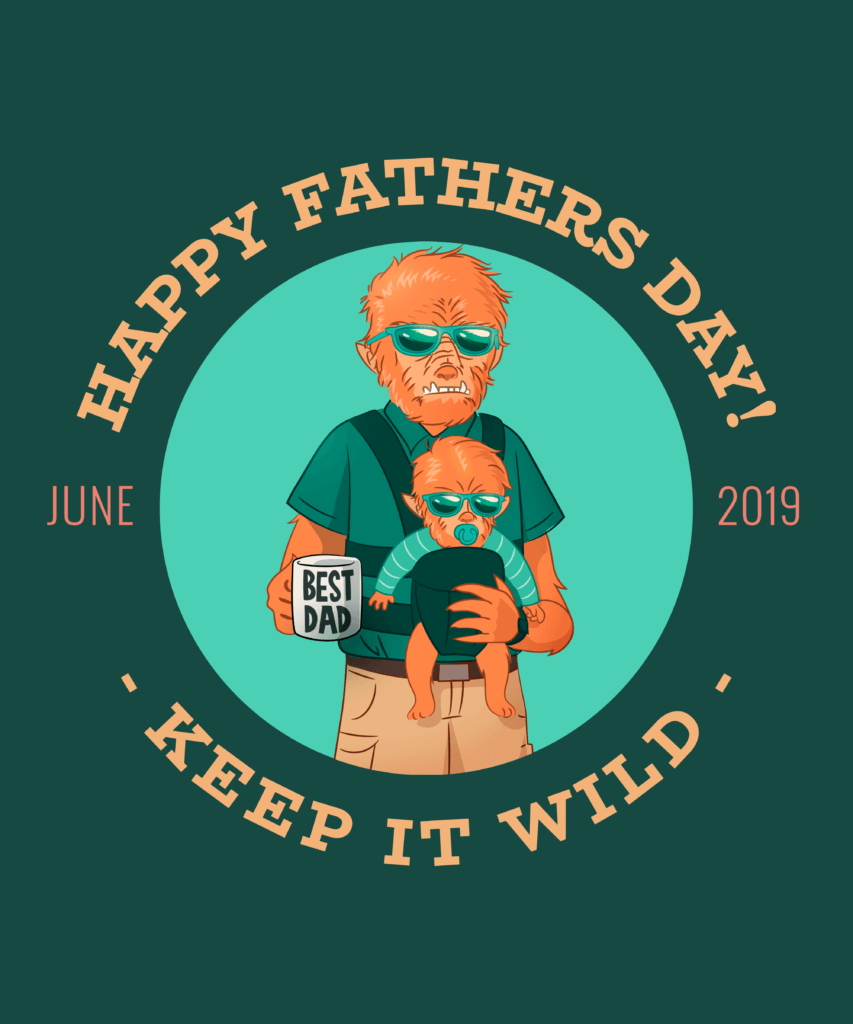 Wolf Man Themed Father S Day T Shirt Maker 438f (1)