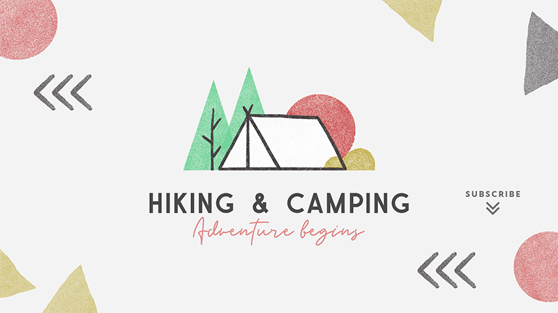 Youtube Banner Generator For Hiking And Camping Activities