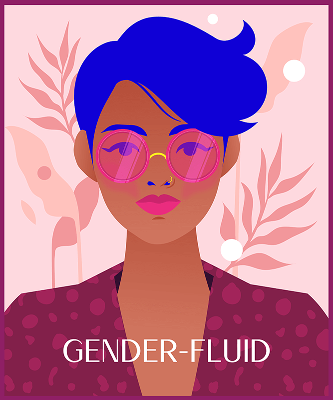Illustrated T Shirt Design Maker With A Gender Fluid Character