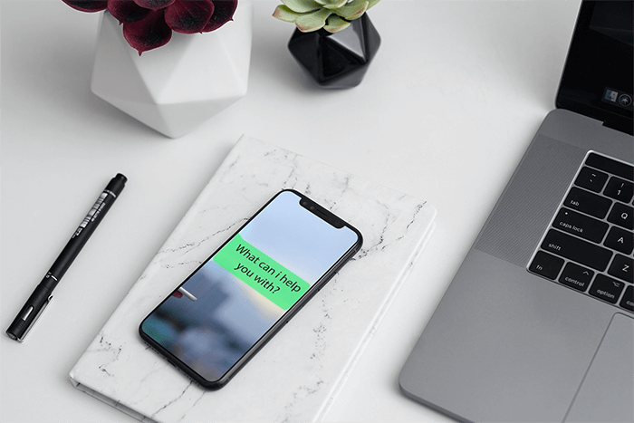 Mockup Of An Iphone 11 Pro On An Elegant Office Desk