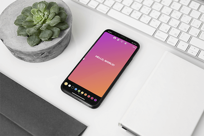 Mockup Of An Iphone 11 Pro Placed On A Neat Desk Next To A Plant Pot