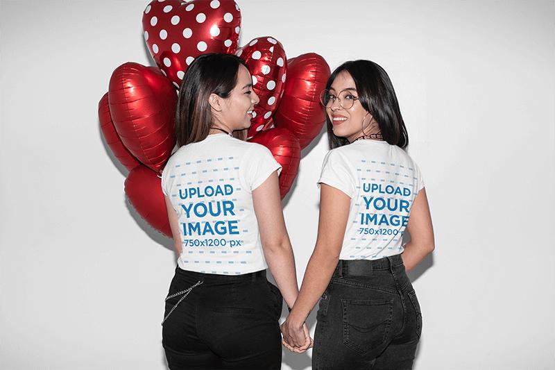 Mockup Of Lesbian Couple