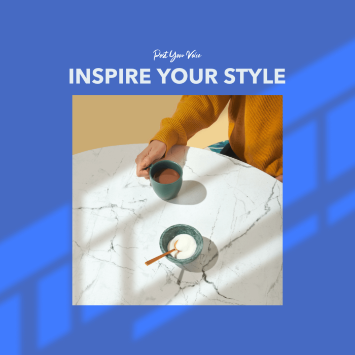 Modern Instagram Post Template For A New Collection Post With A Square Picture