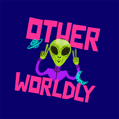 Online Logo Generator For Kids Clothing Stores Featuring An Alien Clipart
