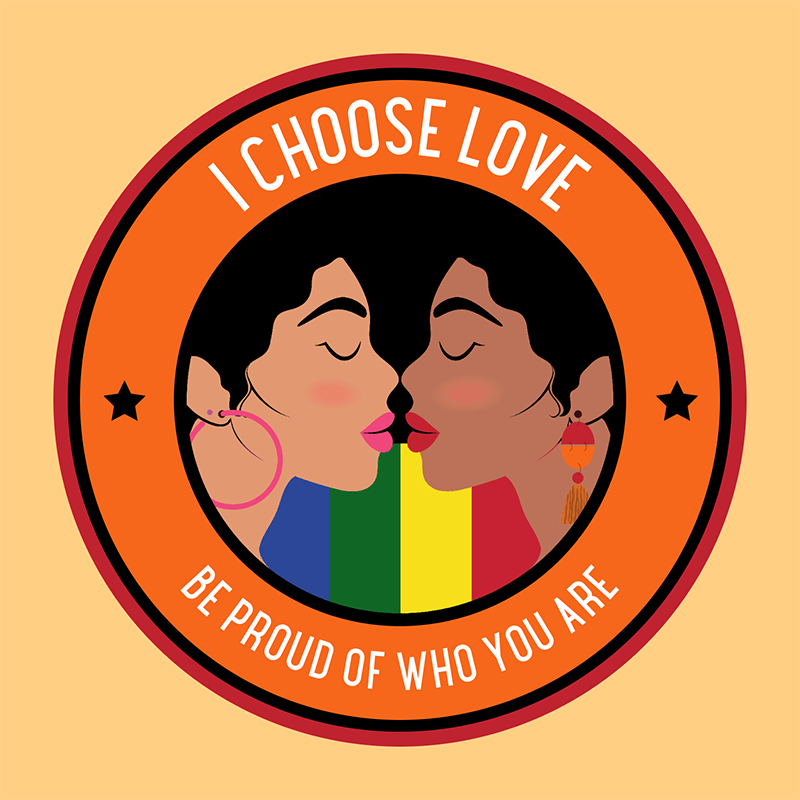 Sticker Design Template Featuring An Lgbtq Quote