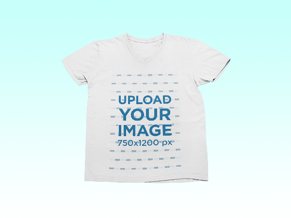 Transparent Mockup Of A T Shirt Surrounded By Fun Cut Out Shapes