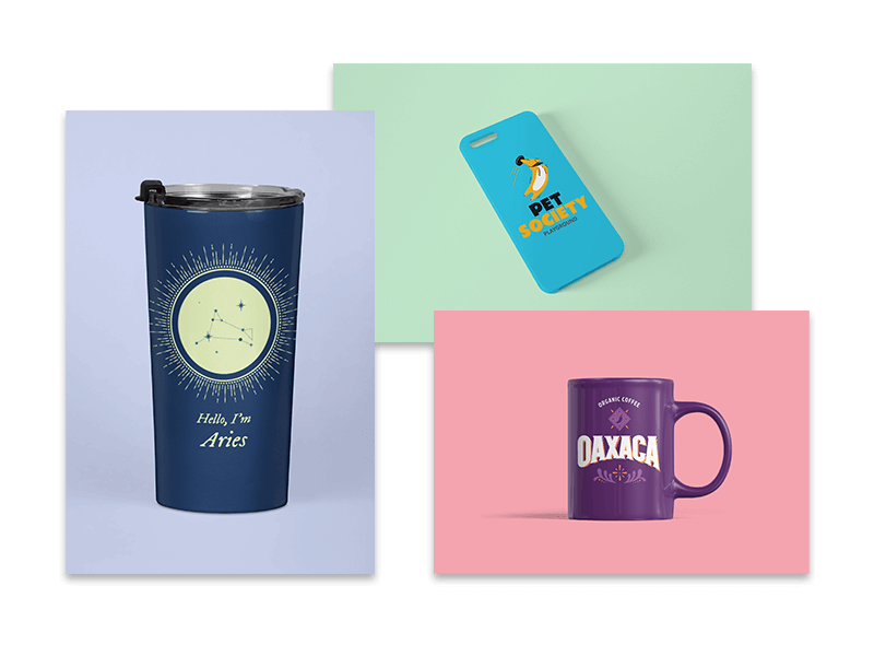 Travel Mug Mug And Iphone Case Mockups