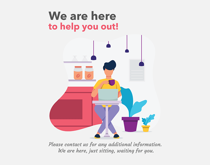 Instagram Post Maker Featuring Home Office Illustrations