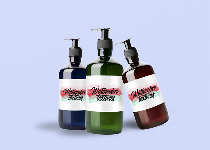 Mockup Featuring Three Hand Sanitizer Bottles Against A Solid Color Background 3986 El1