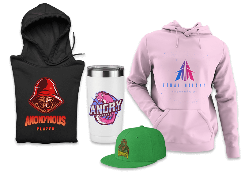 Mockups For Gaming Merch