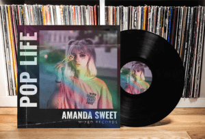 Featured Vinyl Mockup With Album Cover