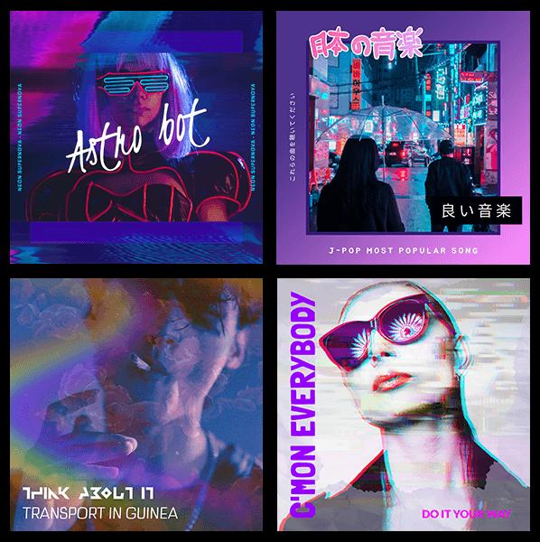 Vaporwave Album Covers