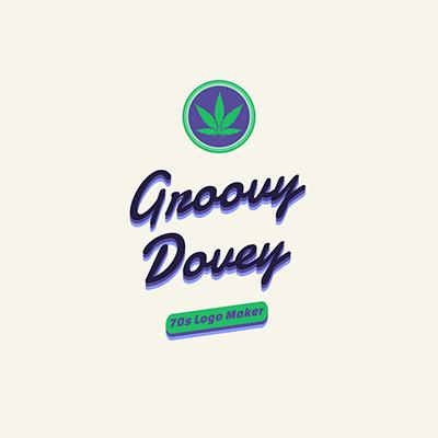 70 S Logo Maker With A Marijuana Graphic