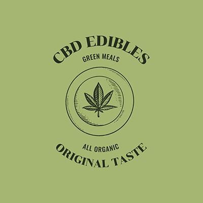 Cbd Edibles Logo Maker Featuring A Marijuana Leaf Graphic
