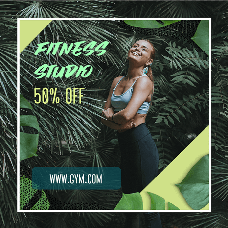 Fitness Ad Banner Maker With A Simple Frame