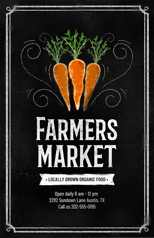 Flyer Design Template For A Farmers Market