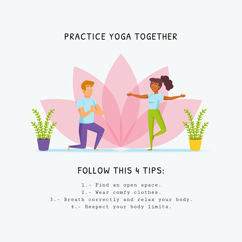Illustrated Instagram Post Creator About Yoga For Couples
