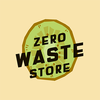Illustrated Logo Template For A Zero Waste Store