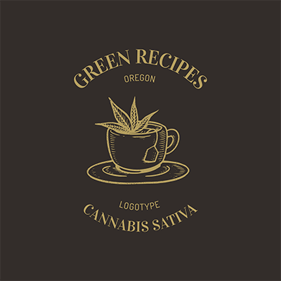 Logo Template Featuring A Cannabis Infused Tea Cup