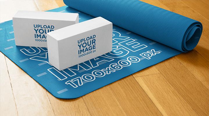 Mockup Of A Yoga Mat