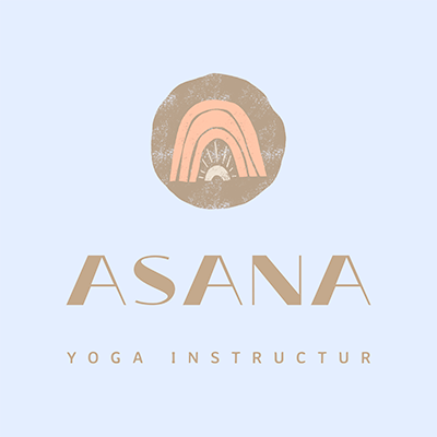 Pastel Colored Logo Maker For A Yoga Instructor