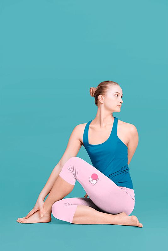 Side View Leggings Mockup Of A Female Yogi In A Studio