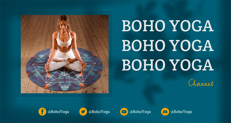 Twitch Banner Creator For A Yoga Streaming Channel