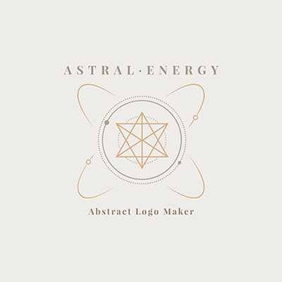 Abstract Logo Maker With An Astrology Theme