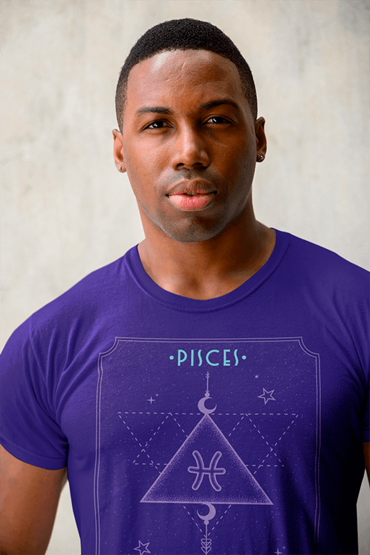 Closeup T Shirt Mockup Featuring A Serious Man